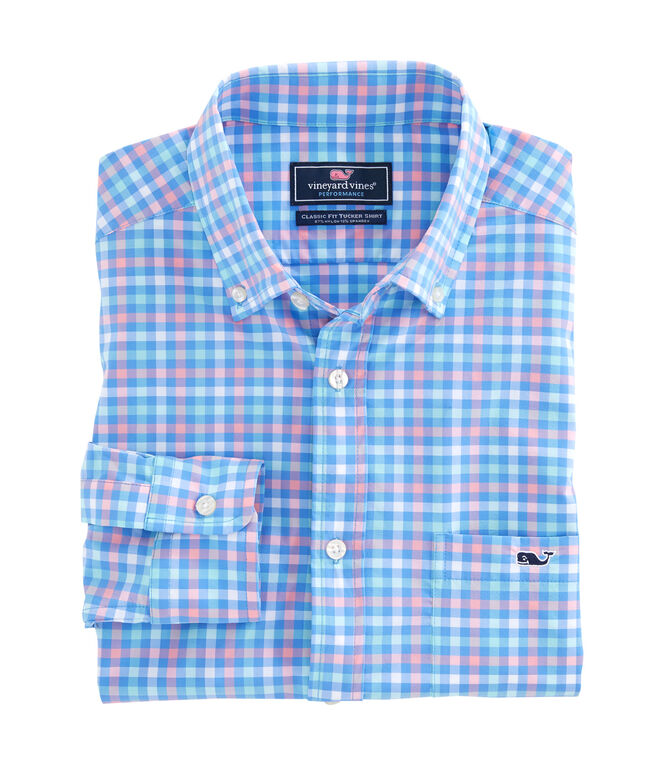 Lake Grove Check Performance Classic Tucker Shirt