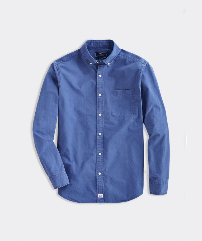 Classic Fit Solid Twill Murray Button-Down Shirt