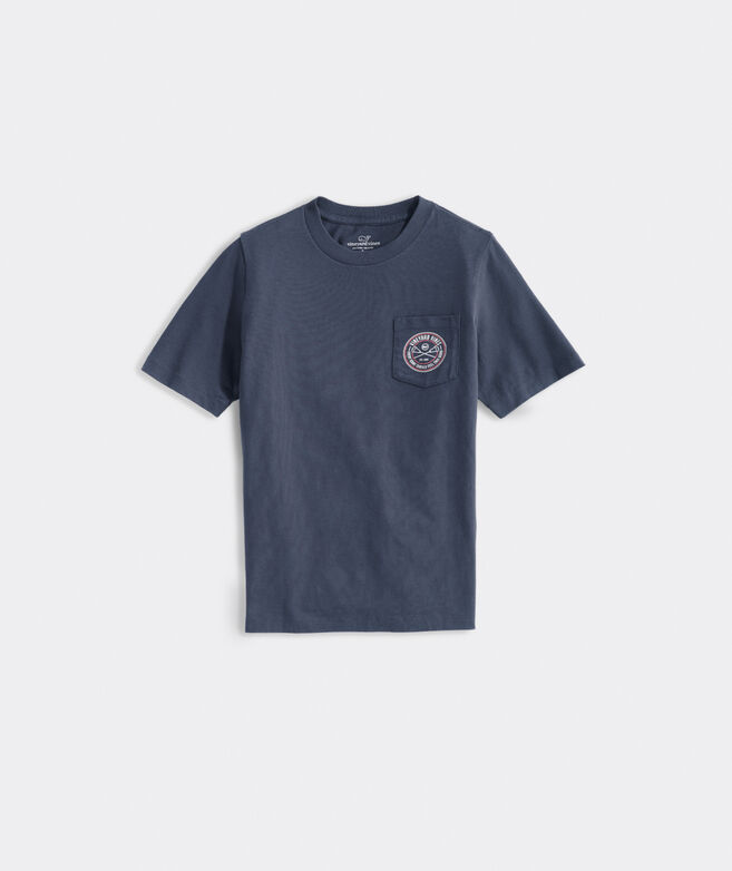 Boys' Lacrosse Crest Short-Sleeve Pocket Tee