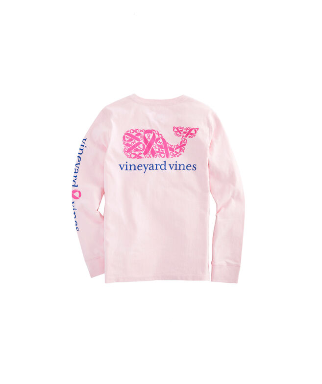 Girls 2019 Breast Cancer Awareness Long-Sleeve Pocket Tee