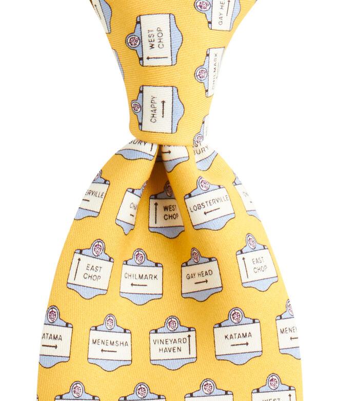 Martha's Vineyard Signs Tie