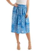 Sand Dollar Print Midi Skirt
