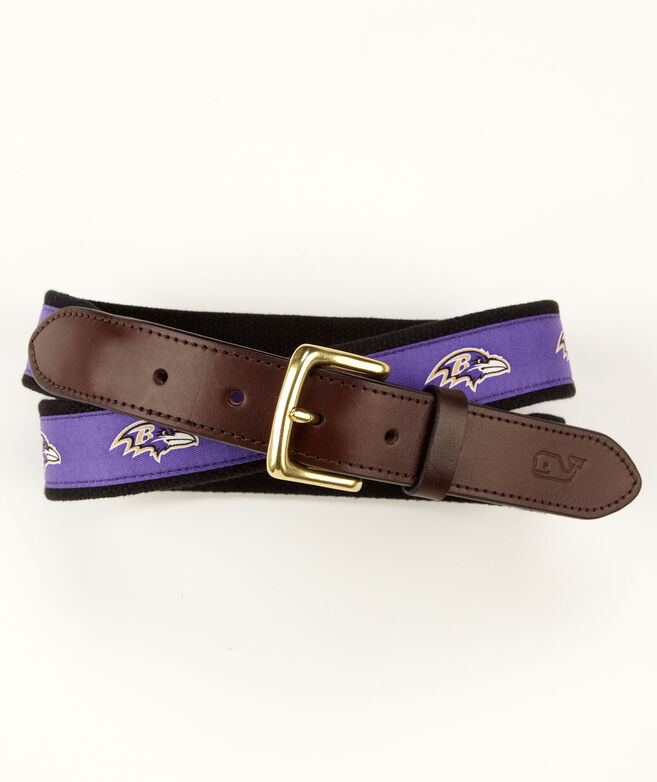 Baltimore Ravens Canvas Club Belt
