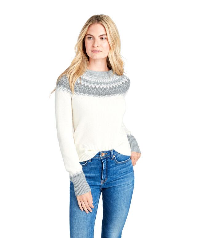 Tonal Fair Isle Crewneck Sweater