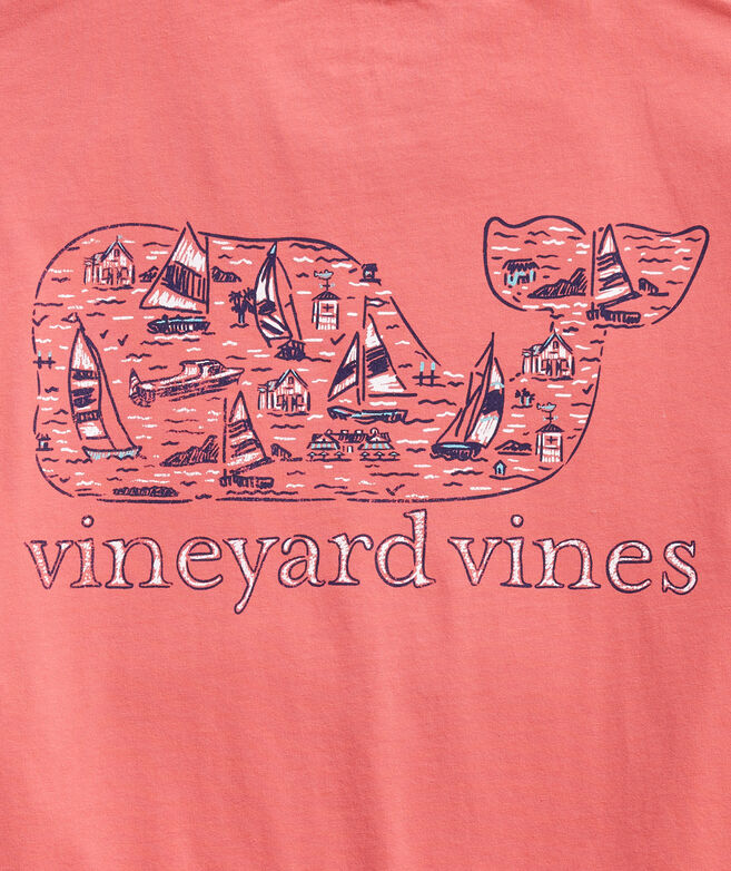 Sail The Yard Surf Logo Fill Short-Sleeve Pocket Tee