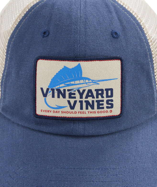 Shop Sailfish Hook Patch Trucker Hat at vineyard vines 6e150fb8b1e0