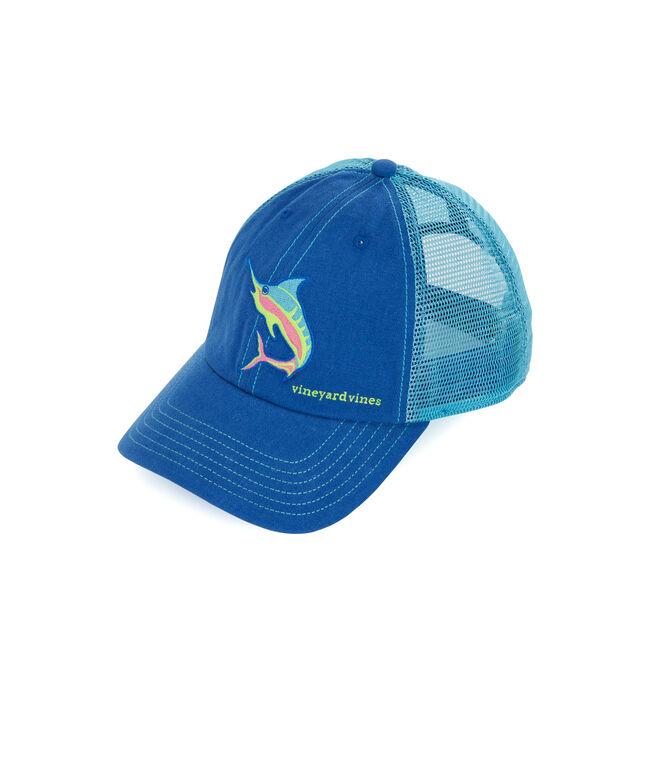 5a345fda Shop Marlin Embroidered Trucker Hat at vineyard vines