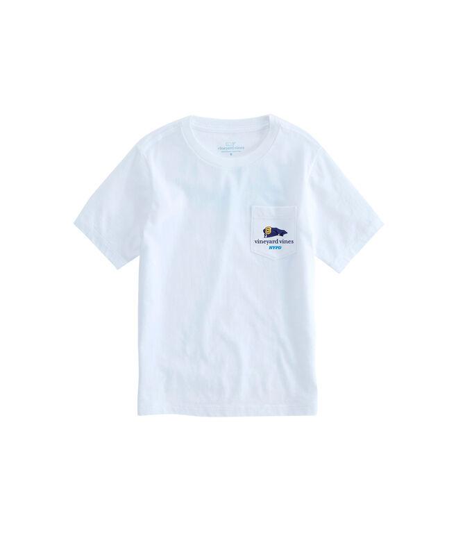 196bf386 Kids Short-Sleeve New York City Police Officer Whale T-Shirt