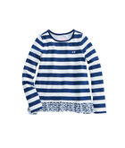 Girls Etched Whale Ruffle Top