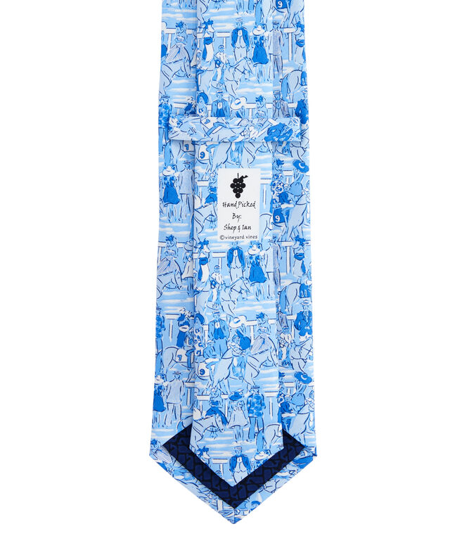 Kentucky Derby Parade Of Horses Printed Tie