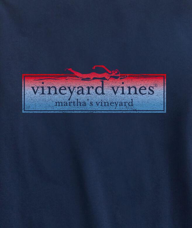 vineyard vines x JAWS Swimmer Logo Box Long-Sleeve Tee