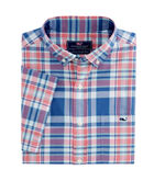 Short-Sleeve Freeport Plaid Classic Tucker Shirt
