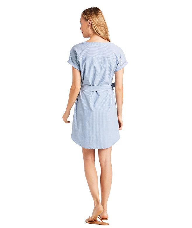 UPF Striped Harbor Tunic Dress