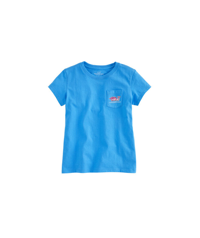 Girls Golf Player Whale Pocket Tee