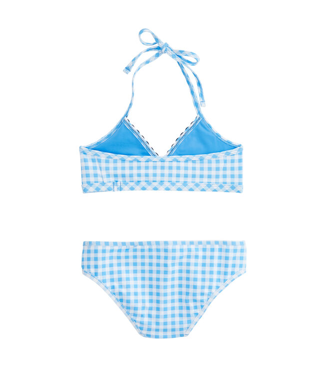 Girls Gingham Bikini Top