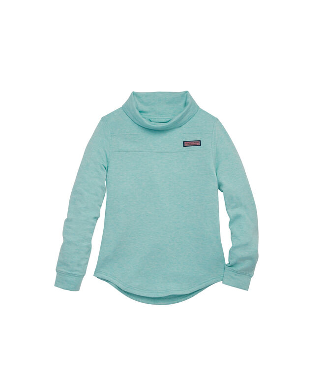 Girls Super Soft Relaxed Funnel Neck Shep Shirt