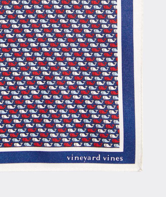 USA Whales Printed Pocket Square
