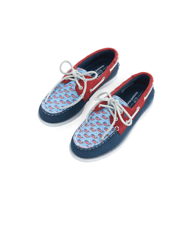 Big Kid's Sperry x vineyard vines Americana Patchwork Authentic Original Boat Shoe