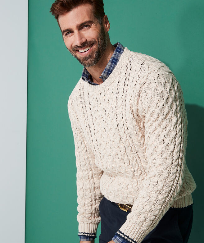 Sconset Fisherman Crewneck Sweater