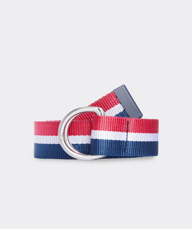 Stripe D-Ring Ribbon Belt