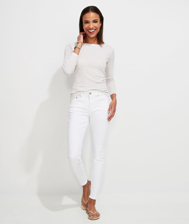 Jamie High-Rise White Jeans