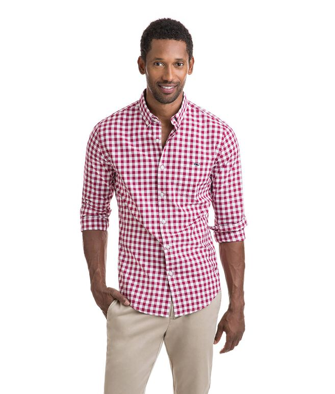Riverhead Gingham Slim Tucker Shirt