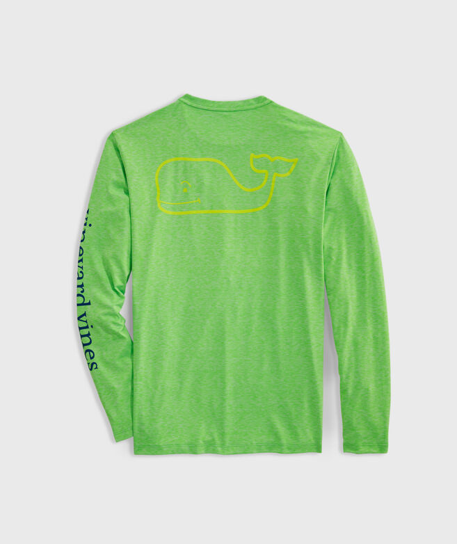 Whale Logo Long-Sleeve Harbor Performance Tee