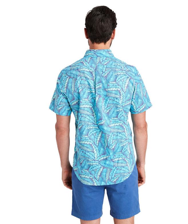 Slim Short-Sleeve Island Palms Murray Shirt