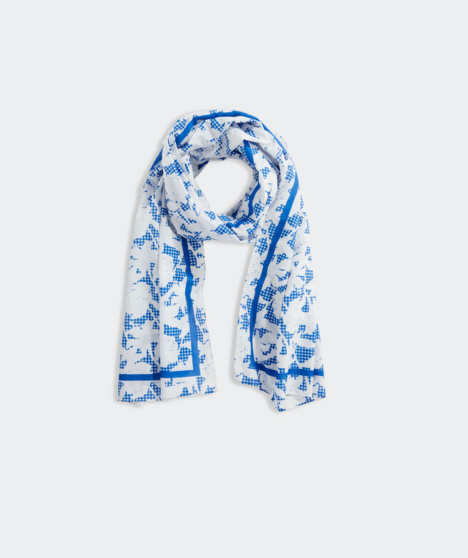 Kentucky Derby Floral Gingham Scarf