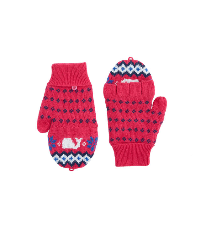 Girls Fairisle Knit Glittens