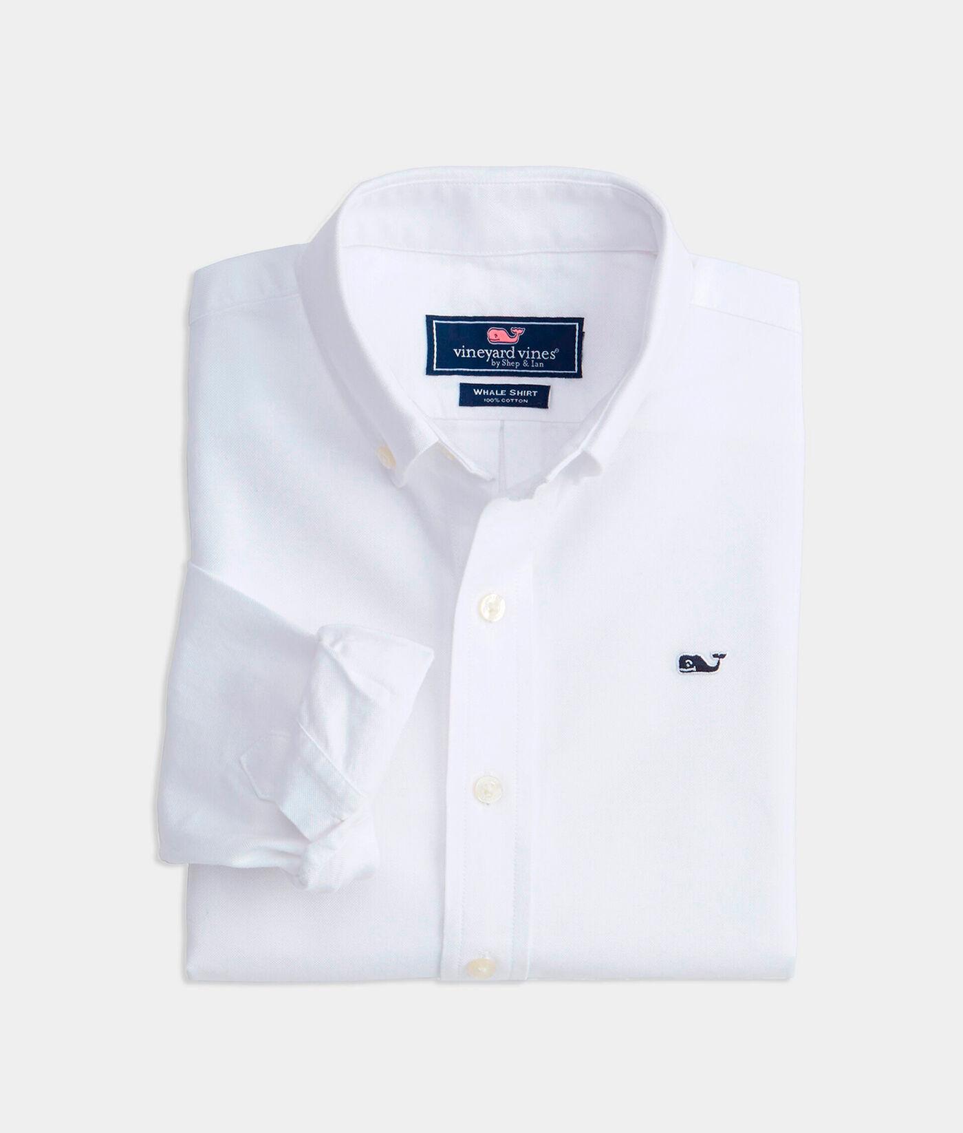 Vineyard Vines Mens Long Sleeve Button Down Whale Shirt Oxford