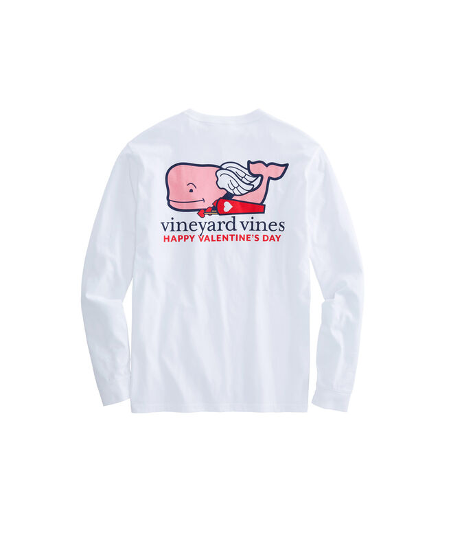 Long-Sleeve Cupid Whale Pocket T-Shirt