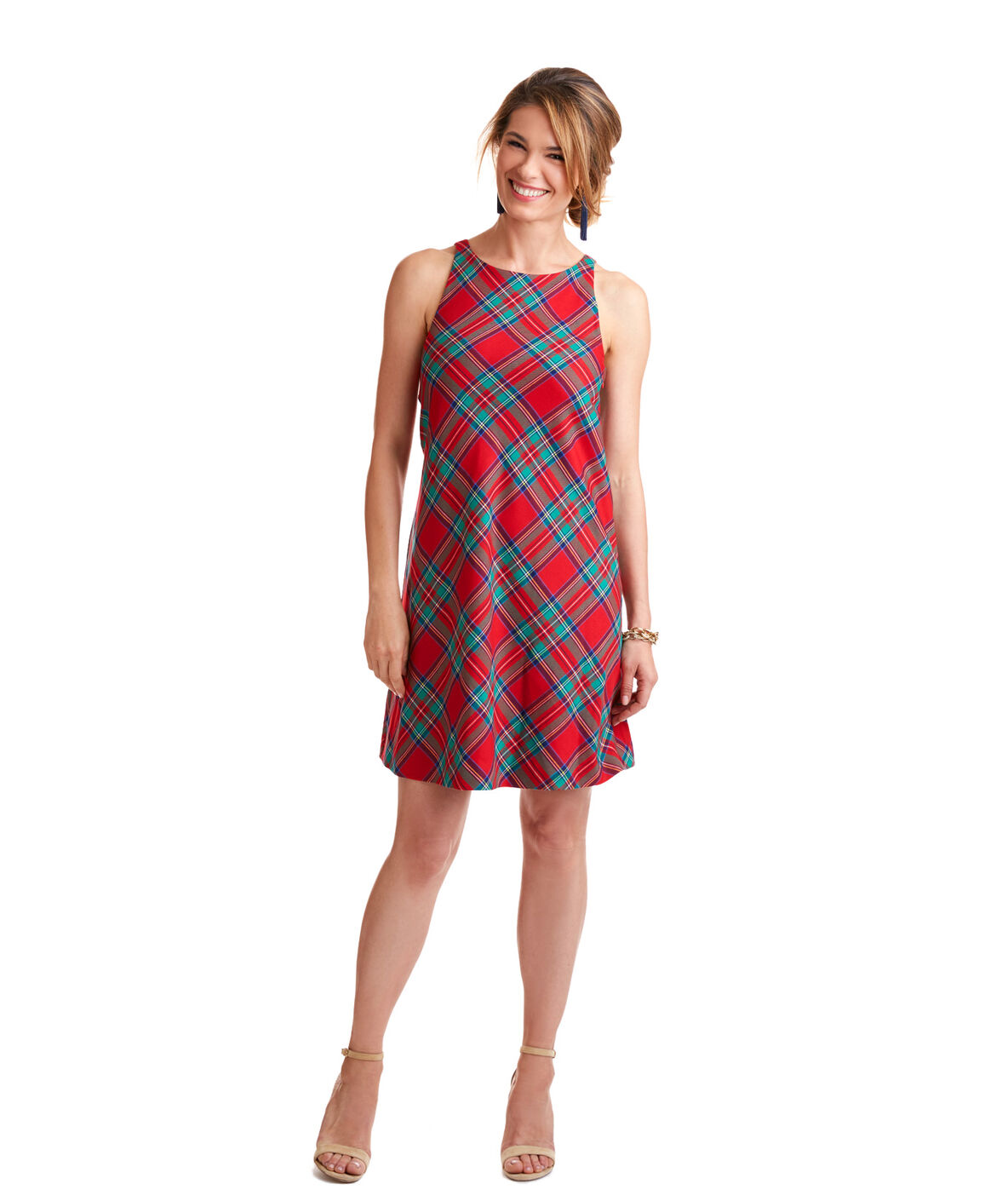 Womens clothing preppy classic clothes vineyard vines jolly plaid shift dress ombrellifo Choice Image