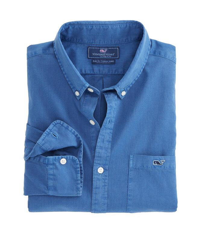 Garment Dyed Cotton Silk Slim Tucker Shirt