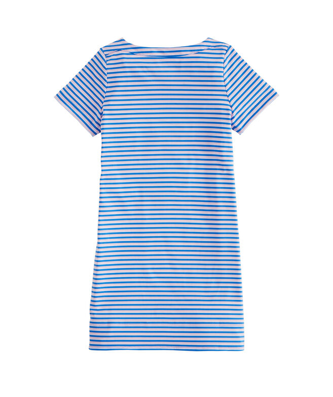 Girls Short-Sleeve Stripe Sankaty Dress