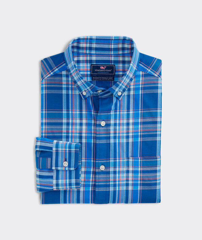 Classic Fit Palmo Cotton Performance Murray Button-Down Shirt