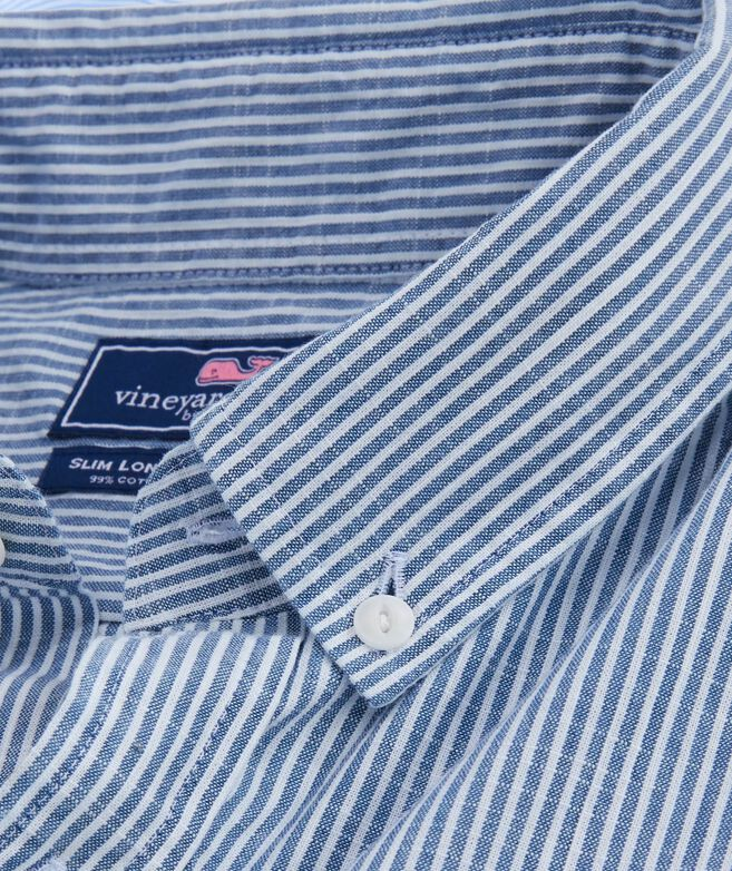 Falcon Stripe Slim Longshore Shirt