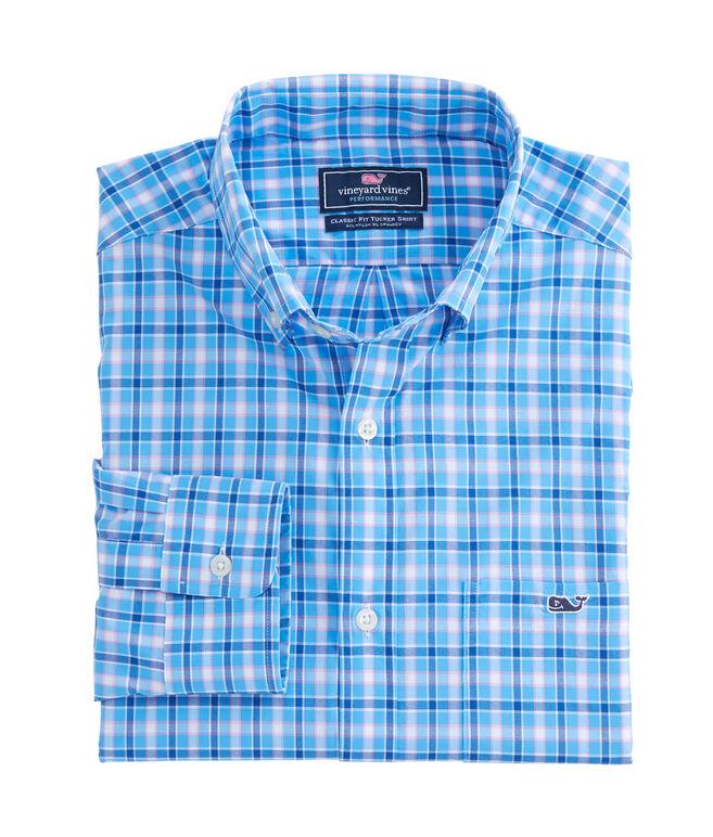Lyford Cay Check Performance Classic Tucker Shirt