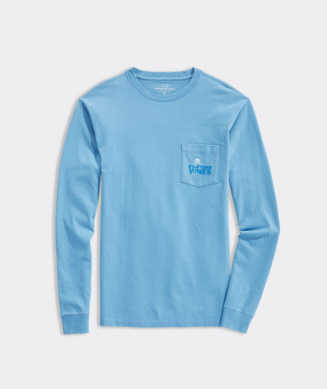 Three Pointer Long-Sleeve Pocket Tee