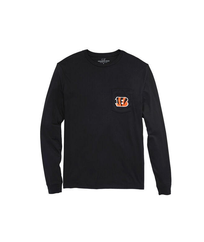 Cincinnati Bengals Long-Sleeve Block Stripe T-Shirt