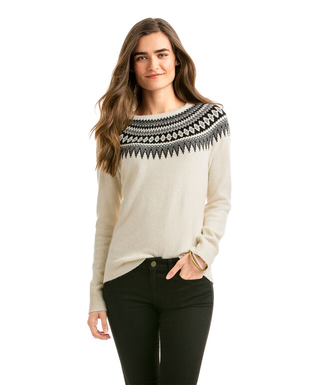 Shop Yoke Fair Isle Crewneck Sweater at vineyard vines