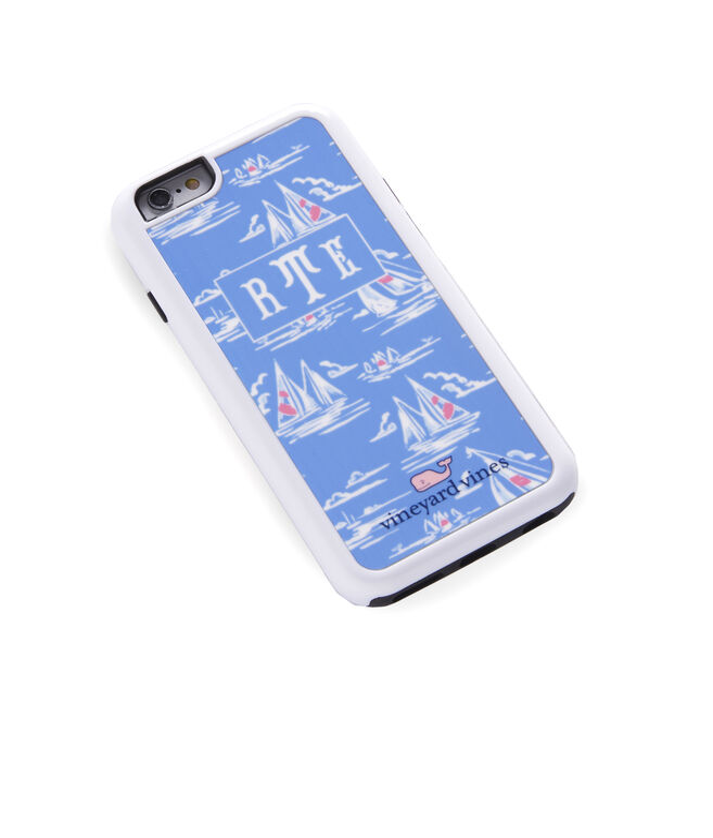 Monogrammed Sailboat Sketch iPhone 6 Case