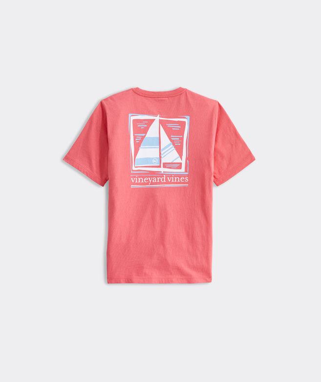 Boys' Simple Sail Short-Sleeve Pocket Tee