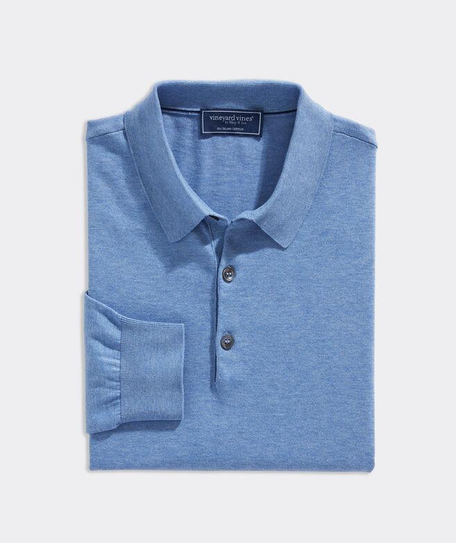 Sea Island Cotton Long-Sleeve Polo