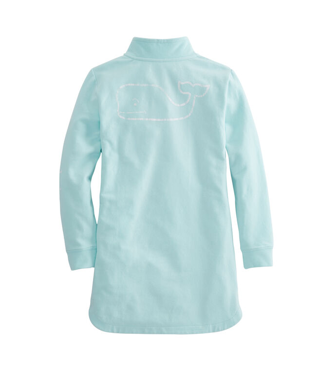 Girls Vintage Whale Zip Cover-Up