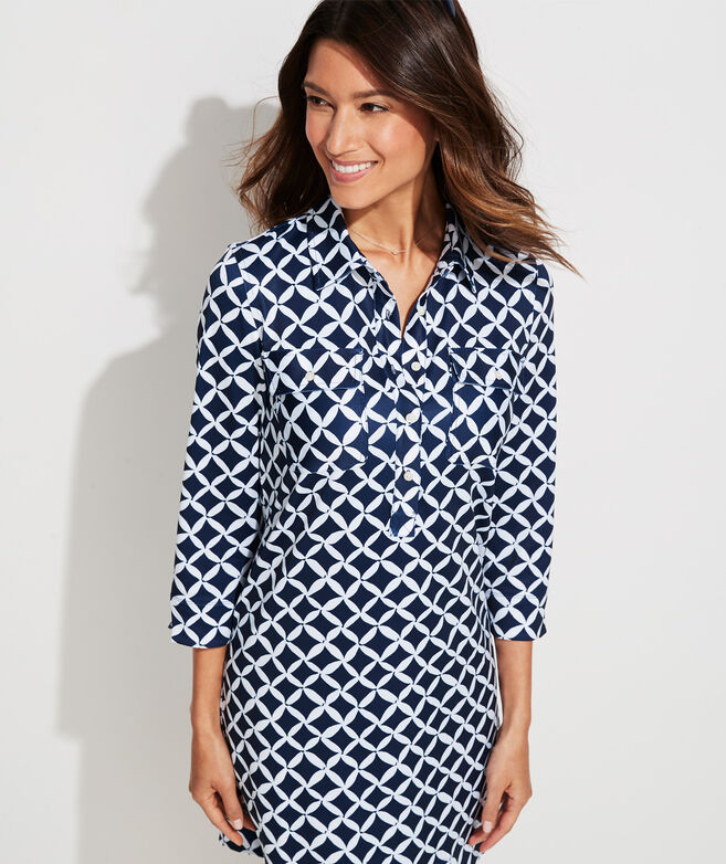 Sankaty Printed Petals Margo Shirt Dress