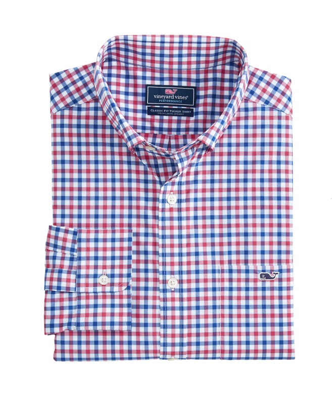 Classic Bermuda Check Performance Tucker Shirt