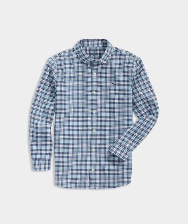 Boys' Flannel Whale Shirt