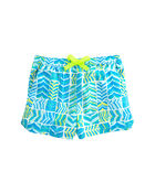 Girls Geo Whale Tail Pull-On Shorts