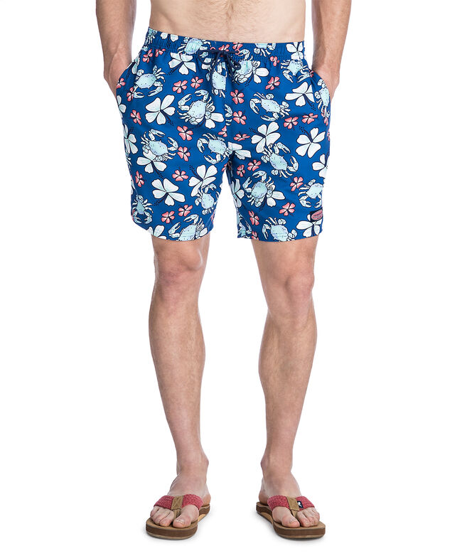 Crab Floral Chappy Trunks